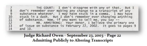 Owen Changing Transcripts