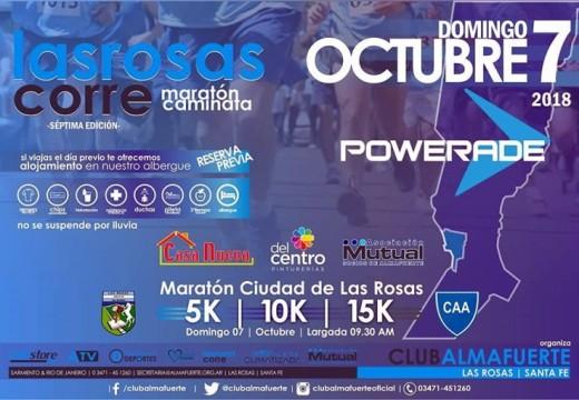 En breve…llega la 7ma. Maratón «Las Rosas Corre»
