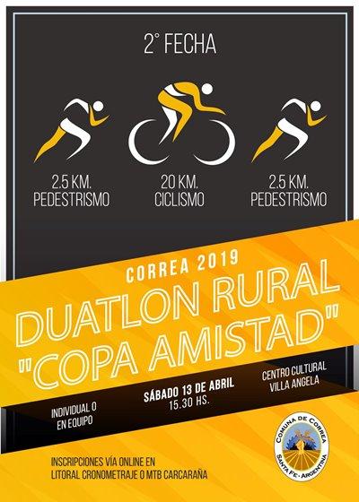 Correa recibe la segunda fecha de la «Copa Amistad» de duatlón rural.