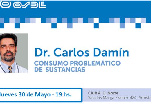 El Dr. Carlos Damín, brindara una charla en Sala «Iris Marga».