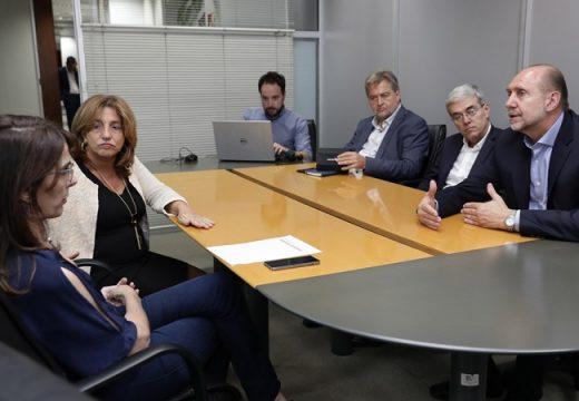 Perotti se reunió con ministros y funcionarios nacionales en Buenos Aires.