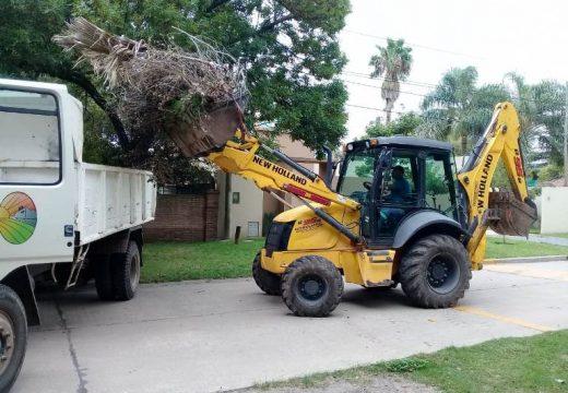 Cañada de Gomez. Municipio continua con trabajos de higiene urbana.