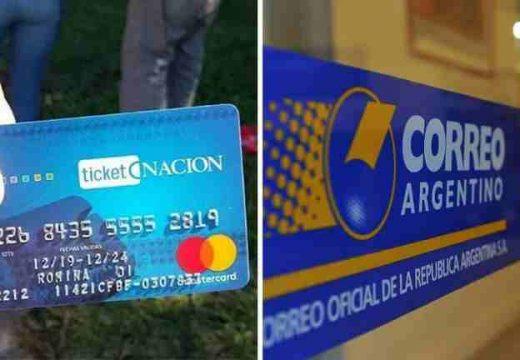 La tarjeta alimentar se entregara por correo argentino.