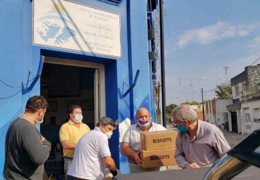 Cañada de Gómez. Municipio y ex-combatientes entregaron a instituciones las donaciones de la colecta.