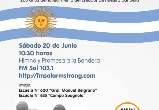 Armstrong. 20 de junio «Día de la Bandera»