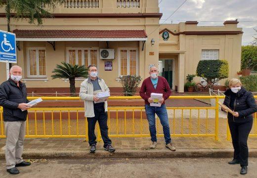 Cañada de Gómez. Gestión municipal continua colaborando en la distribución de cuadernillos en escuelas de la región.