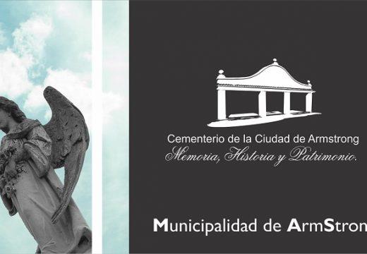 Armstrong. Horarios cementerio local 1 y 2 de noviembre 2020
