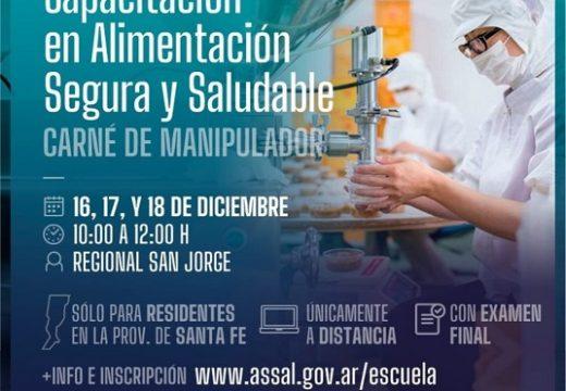 Cañada de Gómez. Curso de Manipulador de Alimentos.