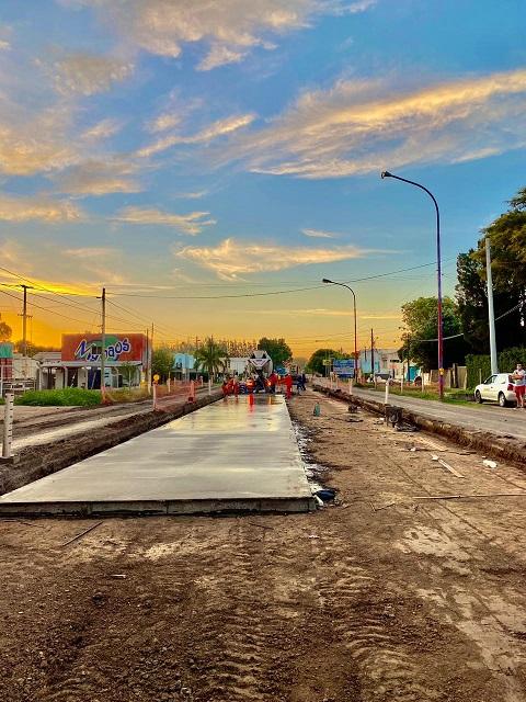 Cañada de Gómez. Avanzan a buen ritmo las obras en la Ruta 9.