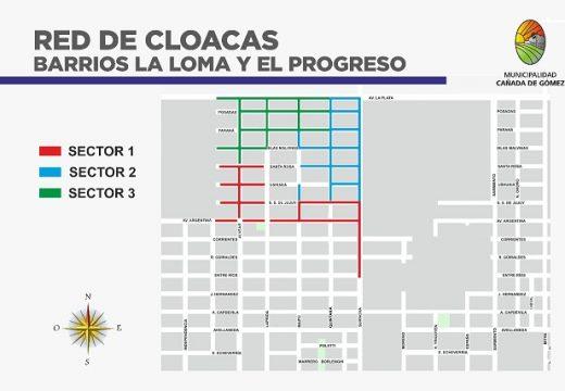 Un paso más hacia el 100% de cloacas en Cañada.