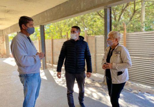 Cañada de Gómez. Clérici recorrió trabajos de recuperación del edificio donde el Centro Económico trasladara sus oficinas.