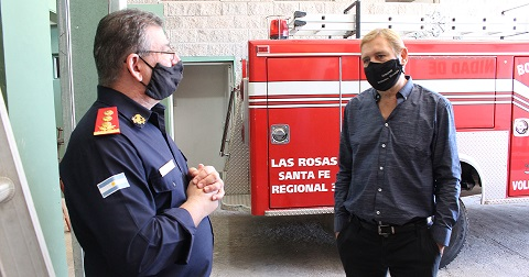 Cornaglia solicitó que bomberos voluntarios sean declarados esenciales.