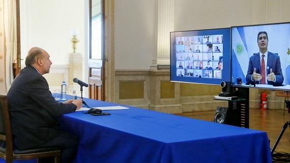 Perotti participó del 4º Encuentro de Gobernadores por los Bajos Submeridionales.