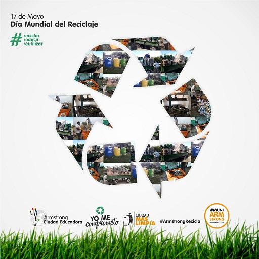 17 de Mayo. Día Mundial del Reciclaje. «Reciclar es transformar desechos en materia prima de otros productos»