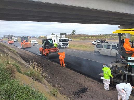 Avanza la obra de recuperación de la autopista Rosario-Córdoba.