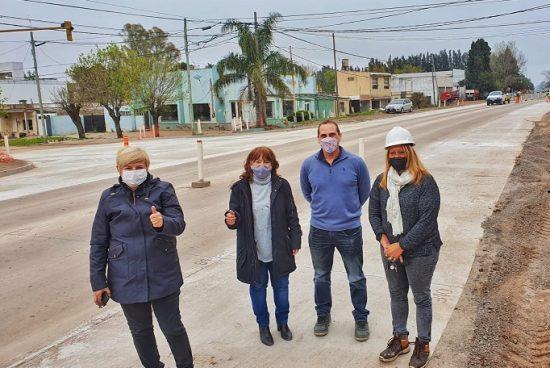 Cañada de Gómez. Avanza la reconstrucción de la 9 en Cañada y la región.
