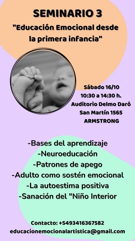 Tercer seminario de Educación Emocional Artística.