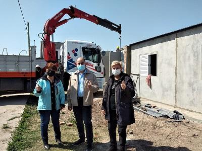 Cañada de Gómez. Avanza construcción de nuevas viviendas de UPCN.