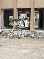 Demining machine building