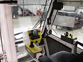 demining machine interiors