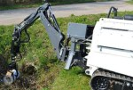 Armtrac 20T Mk2 {Small (Heavy) UGV} which is deployed in Colombia, Iraq & Syria investigating a culvert IED