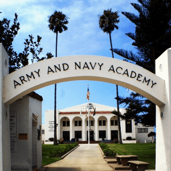 Entrance at Army and Navy Academy