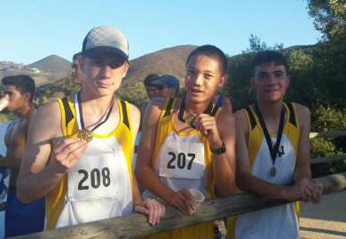 Army and Navy Academy Cross Country Medalers