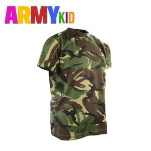 Kids Army T Shirts – DPM Woodland