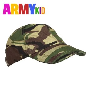 Kids Baseball Caps -DPM Woodland Camo