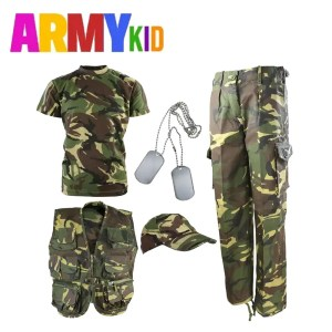 Kids Camouflage Explorer Army Kit DPM Woodland Camo