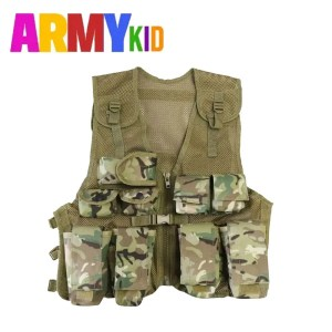 Kids Multi Pocket Assault Vest – BTP Camo