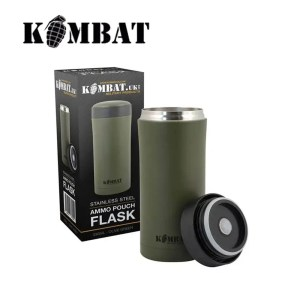 Kombat Ammo Pouch Flask – Black | Olive Green