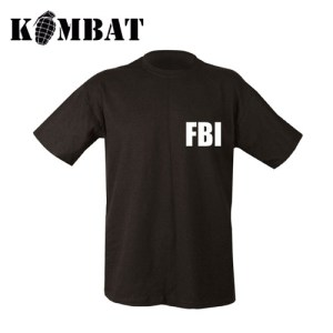 FBI Double Print T-shirt – Black