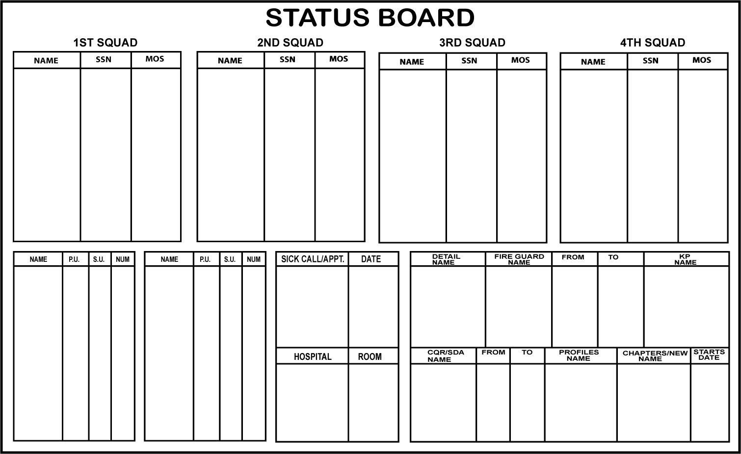 Download Duty Roster Chart