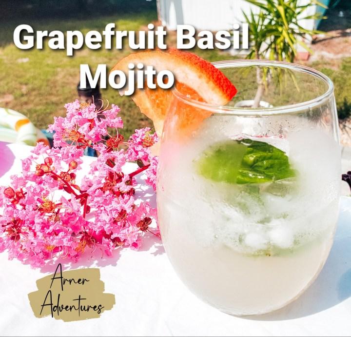 Grapefruit Basil Mojito