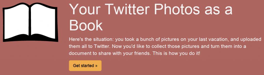 TweetBook snapshot