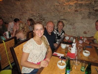 Julia Doyle, with grandparents Arnie & Kathy