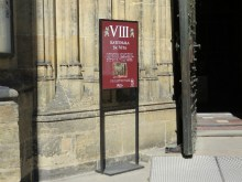 Entrance sign for St. Vitus Cathedral