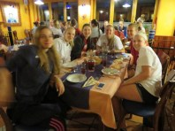 The Slovenian ladies joined ours for the evening meal