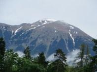 The Julian Alps as we left Slovenia for Croatia