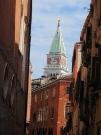 View of the Campanile (bell tower) from our gondola