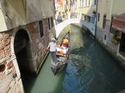 Gondola in side canal on the way to Piazza San Marco