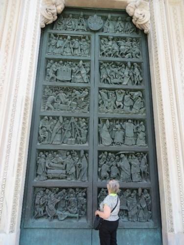 The doors had biblical stories in each panel