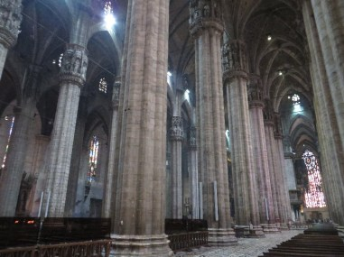 Interior columns of the Duomo