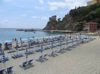 One of two sand beaches in Monterosso