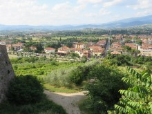 A view of Arezzo from the wall of the park