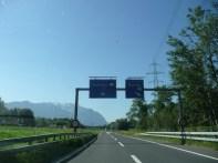 Our turnoff to Schaan, Liechtenstein (FL)