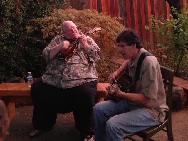 Arnie Gamble and Greg Townsend at the Hettinger's jam.