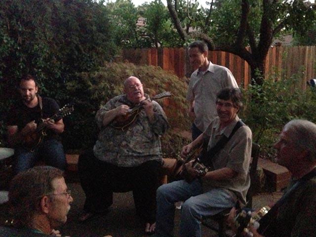 Arnie Gamble, Whit Washburn and Greg Townsend at the Hettinger's jam.