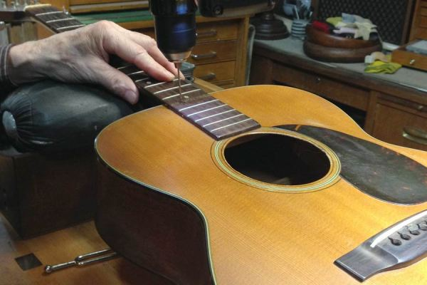 Neck reset on a C. F. Martin guitar